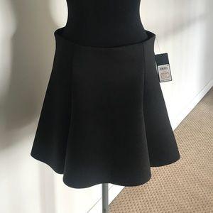 Neoprene flare mini skirt
